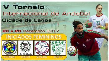 Cartaz V Torneio Internacional de Andebol Cidade de Lagoa