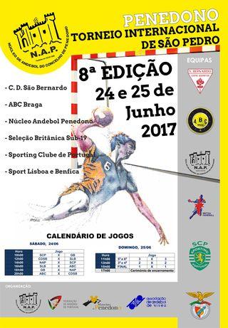 Cartaz 8º Torneio de S. Pedro a 24 e 25 de Junho de 2017 em Penedono