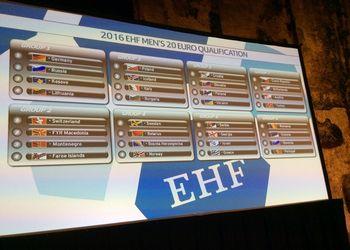 sorteio dos grupos de qualificação para o Campeonato Europeu Sub20 Masculinos Dinamarca 2016