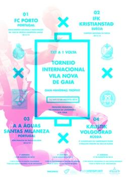Cartaz Torneio Internacional de Gaia - 2014