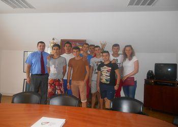 Alunos do estágio Leonardo Da Vinci em visita à FAP