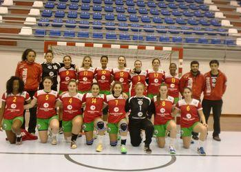 Selecção Nacional Juniores B femininas - Torneio Kakygaia - foto: Cid Ramos