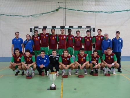 Selecção Nacional de Juniores B Masculinos - vencedores do Torneio Internacional de Doha