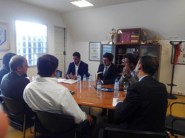 Secretário de Estado da Juventude e Desporto em visita à Federação