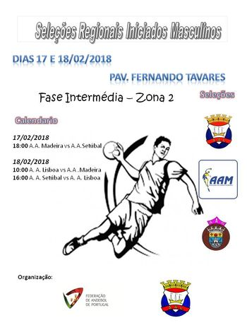 Cartaz Fase Intermédia do Torneio de Seleções Regionais Iniciados Masculinos - Lisboa