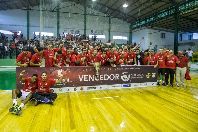 SL Benfica - vencedor Supertaça Seniores Masculinos - foto: Pedro Alves/PhotoReport.In