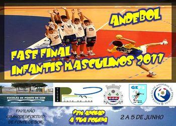 Cartaz Fase Final Campeonato Nacional Infantis Masculinos - 02 a 05 Junho