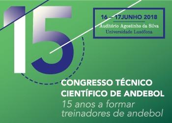 Cartaz 15º Congresso Técnico Científico de Andebol