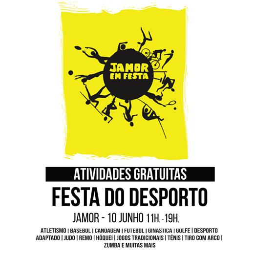 Cartaz Festa do Desporto - 10 Junho - Jamor