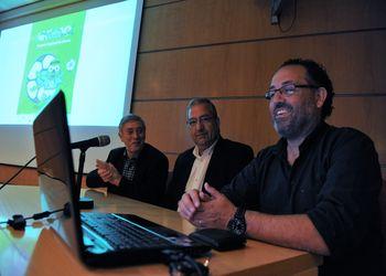 Dr. Ulisses Pereira, Dr. Raul Castro e Dr. Mário Bernardes - conferência de imprensa de apresentação do Encontro Nacional de Infantis Femininos e Masculinos 2015 - Leiria