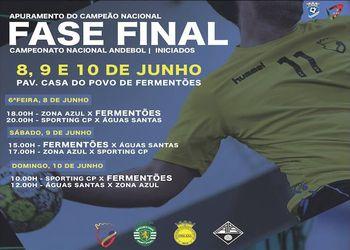Cartaz Fase Final Campeonato Nacional Iniciados Masculinos 2017/ 2018