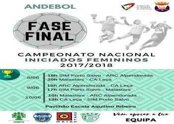 Cartaz Fase Final Campeonato Nacional Iniciados Femininos 2017/ 2018