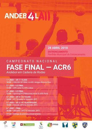 Cartaz Fase Final do Campeonato Nacional de ACR6 - 28.04.18, Entroncamento