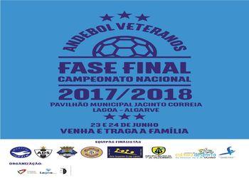 Cartaz Fase Final Campeonato Nacional de Veteranos 2017/ 2018