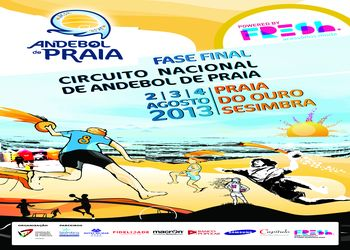 Cartaz da Fase Final do Circuito Nacional de Andebol de Praia 2013