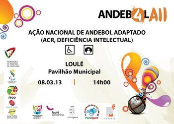 Cartaz Ação de Formação de Andebol Adaptado - Loulé, 08.03.13