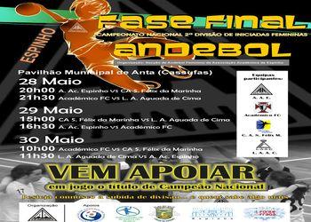 Cartaz da Fase Final do Campeonato Nacional 2ª Divisão Iniciados Femininos