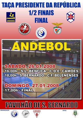 Cartaz Taça Presidente da República 2007/08