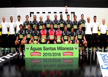 Aguas Santas Milaneza - Foto plantel Andebol 1 - 2015-2016