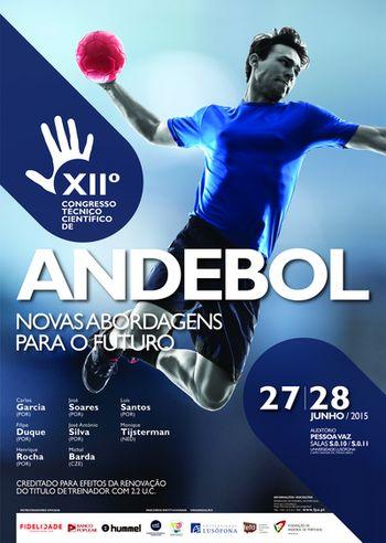 Cartaz grande - XII Congresso Técnico Científico de Andebol