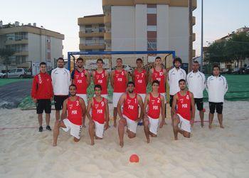 Portugal - selecção nacional sub19 andebol praia 2015