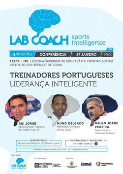 """Cartaz Conferência """"Treinadores Portugueses - Liderança Inteligente"""""""