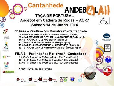 Cartaz Taça de Portugal em ACR7 - 14.06.14
