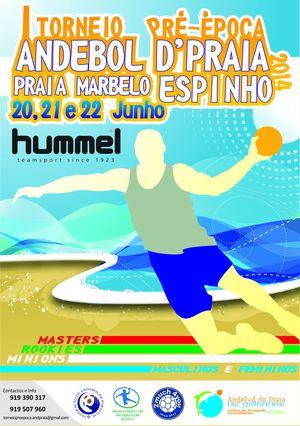 Cartaz I Torneio pré-época de Andebol de Praia 2014