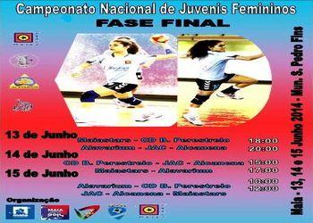 Cartaz Fase Final do Campeonato Nacional de Juvenis Femininos - 13 a 15.06.14