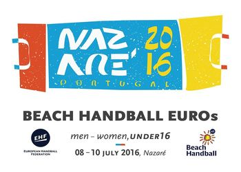 Logo 7º Campeonato da Europa de Andebol de Praia Masculino e Feminino Sub16