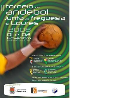 Calendário II Torneio de Andebol Junta Freguesia de Loures 2008