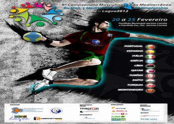 Cartaz 9º Campeonato do Mediterrâneo Masculino