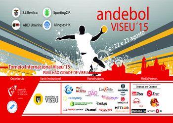 Cartaz XVII Torneio Internacional de Andebol Viseu 2015