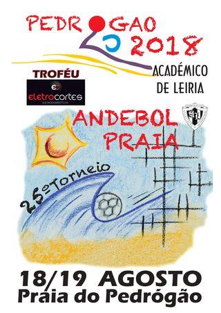 Cartaz Torneio de Andebol de Praia - Pedrógão 2018