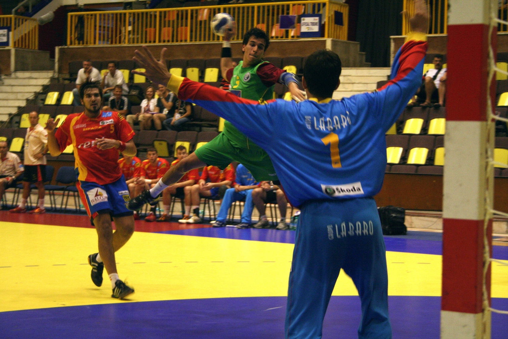Campeonato Europeu Sub20 Masculino Roménia 2008 - Espanha : Portugal - João Pais