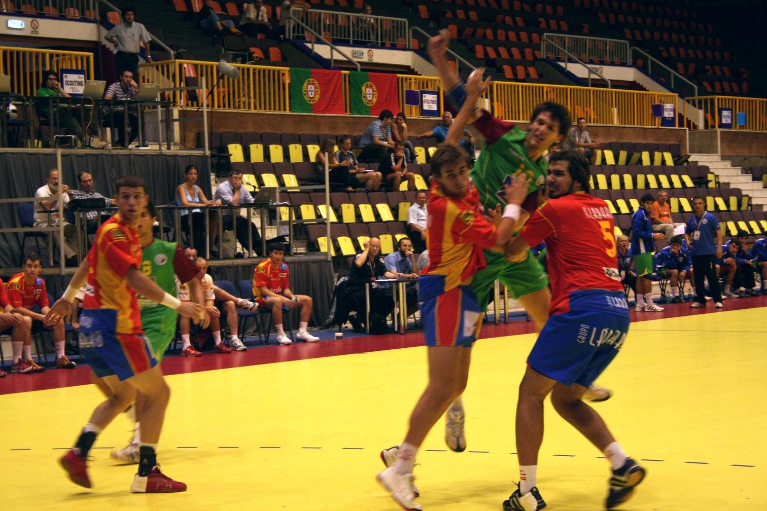 Campeonato Europeu Sub20 Masculino Roménia 2008 - Espanha : Portugal - Fábio Magalhães