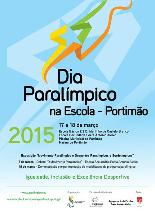 Dia Paralímpico na Escola Portimão 2015 - cartaz programa