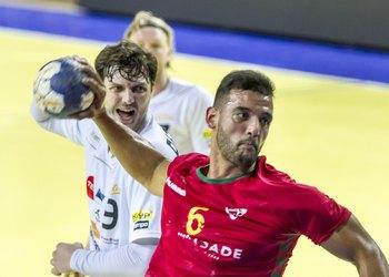 Bruno Moreira no jogo Portugal-Estónia