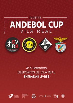 Cartaz III Andebol Cup de 4 a 6 de Setembro - Juvenis