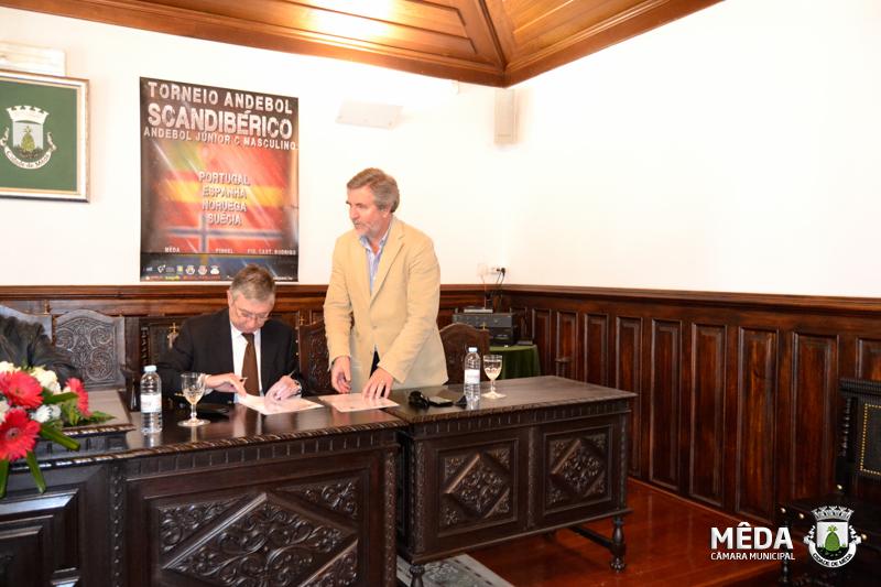 Assinatura dos protocolos FAP com CM Mêda, CM Pinhel e CM Figueira Castelo Rodrigo - Scandibérico 2014