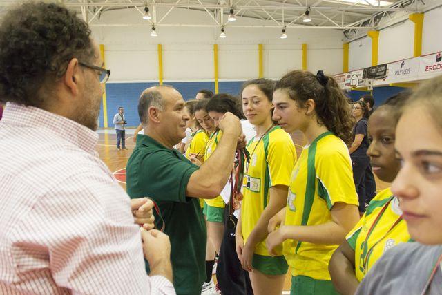 Entrega de prémios - fase final campeonato nacional juniores femininos 2014-2015 - foto: Tiago Madeira/ MX Agency