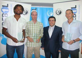 Entrega de prémios Andebol 1 2011/12 - Gilberto Duarte, Mário Carvalho, Hugo Maganinho e Hugo Laurentino