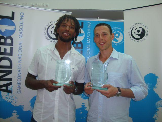 Entrega de prémios Andebol 1 2011/12 - Gilberto Duarte - Melhor Jogador e Hugo Laurentino - Melhor Guarda-Redes