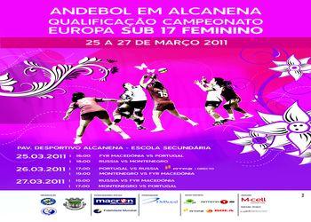 Cartaz Qualificação Campeonato Europa Sub-17 femininos - Alcanena