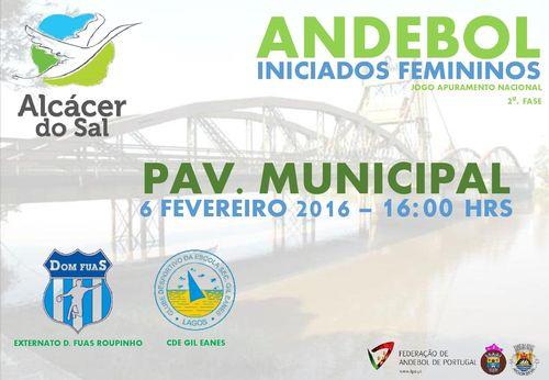 Cartaz AED Fuas Roupinho : CDE Gil Eanes - Campeonato Nacional Iniciados Femininos - apuramento 2ª Fase