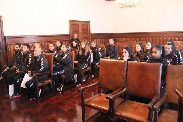 Selecção Nacional A Feminina recebida no Paços do Concelho de S. Pedro do Sul