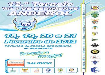 Cartaz Torneio de Andebol Vila de Benavente