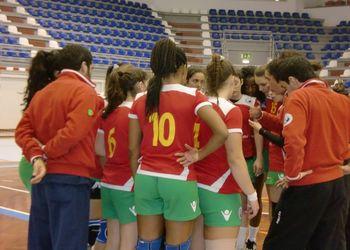 Selecção Nacional Juniores B femininas : CALE - Torneio Kakygaia - foto: Cid Ramos