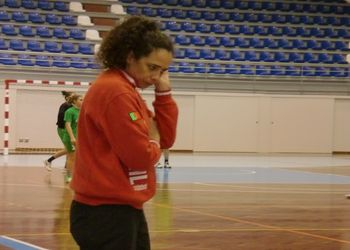 Sandra Fernandes - treinadora da Selecção Nacional Juniores B femininas - Torneio Kakygaia - foto: Cid Ramos