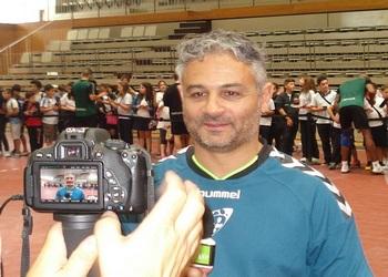 Roando Freitas no primeiro treino em Santo Tirso